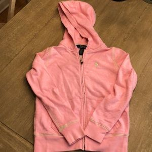 Distressed Pink Hoodie- POLO Ralph Lauren for Kids